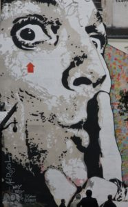 Shh man wall mural